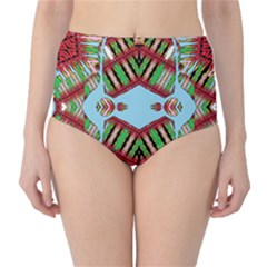 Digital Dot One High Waist Bikini Bottoms