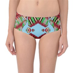 Digital Dot One Mid Waist Bikini Bottoms