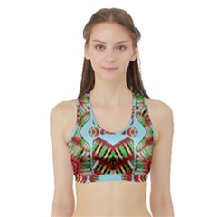 Digital Dot One Sports Bra With Border