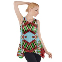 Digital Dot One Side Drop Tank Tunic