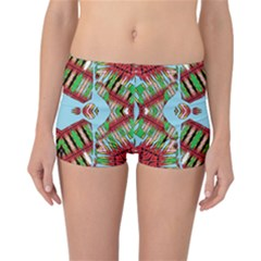 Digital Dot One Reversible Boyleg Bikini Bottoms