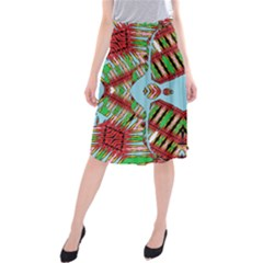 Digital Dot One Midi Beach Skirt
