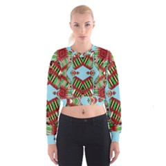 Digital Dot One Cropped Sweatshirt