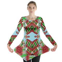 Digital Dot One Long Sleeve Tunic