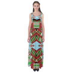 Digital Dot One Empire Waist Maxi Dress