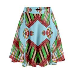 Digital Dot One High Waist Skirt
