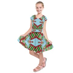 Digital Dot One Kids  Short Sleeve Dress