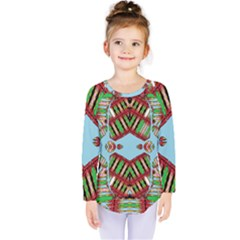 Digital Dot One Kids  Long Sleeve Tee