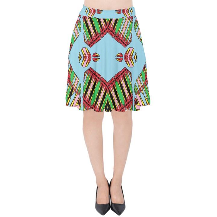 Digital Dot One Velvet High Waist Skirt