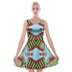 Digital Dot One Velvet Skater Dress