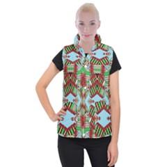 Digital Dot One Women s Button Up Puffer Vest