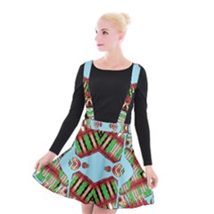 Digital Dot One Suspender Skater Skirt