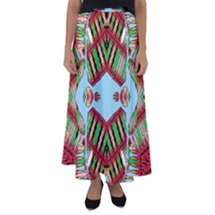 Digital Dot One Flared Maxi Skirt