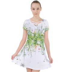 Carrot Flowers Caught In A Web Dress