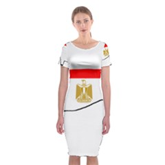 Greyhound Flag Silo Egypt Flag Classic Short Sleeve Midi Dress