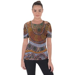 Aboriginal Traditional Pattern Short Sleeve Top