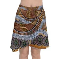 Aboriginal Traditional Pattern Chiffon Wrap