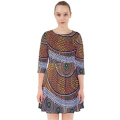 Aboriginal Traditional Pattern Smock Dress