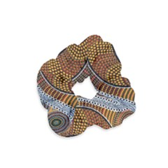Aboriginal Traditional Pattern Velvet Scrunchie