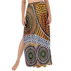 Aboriginal Traditional Pattern Maxi Chiffon Tie Up Sarong