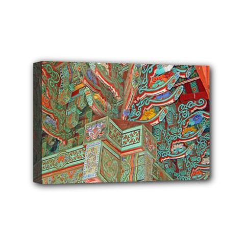 Traditional Korean Painted Paterns Mini Canvas 6  X 4