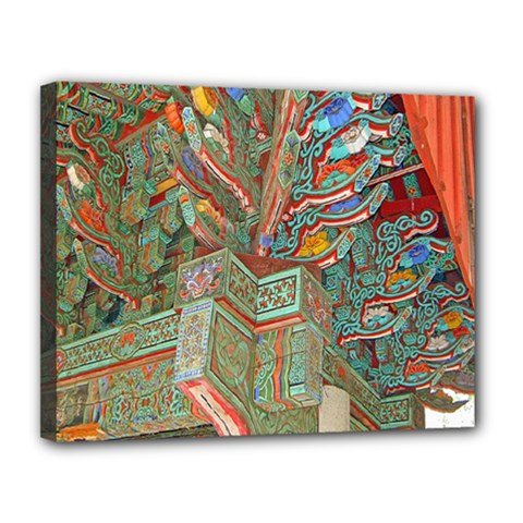 Traditional Korean Painted Paterns Canvas 14  X 11