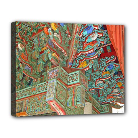 Traditional Korean Painted Paterns Deluxe Canvas 20  X 16