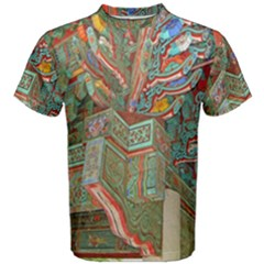 Traditional Korean Painted Paterns Men s Cotton Tee