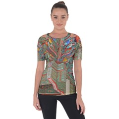 Traditional Korean Painted Paterns Short Sleeve Top