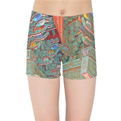 Traditional Korean Painted Paterns Kids Sports Shorts