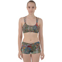 Traditional Korean Painted Paterns Women s Sports Set