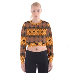 Traditiona  Patterns And African Patterns Cropped Sweatshirt
