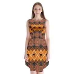 Traditiona  Patterns And African Patterns Sleeveless Chiffon Dress