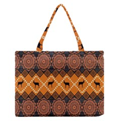 Traditiona  Patterns And African Patterns Zipper Medium Tote Bag