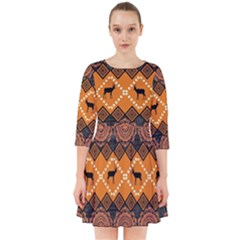 Traditiona  Patterns And African Patterns Smock Dress