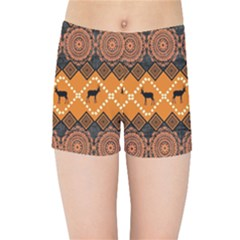 Traditiona  Patterns And African Patterns Kids Sports Shorts