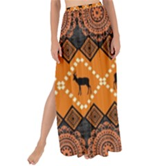 Traditiona  Patterns And African Patterns Maxi Chiffon Tie Up Sarong