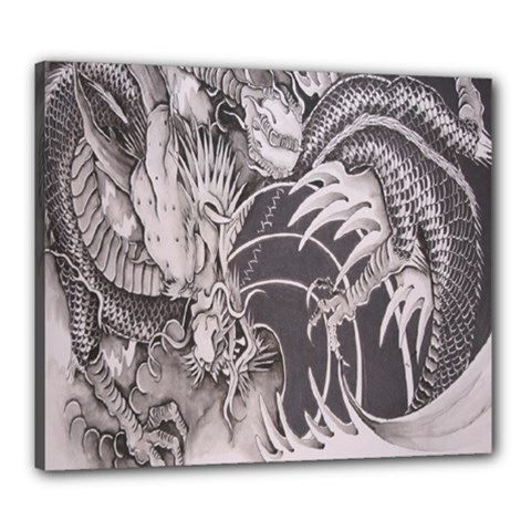 Chinese Dragon Tattoo Canvas 24  X 20
