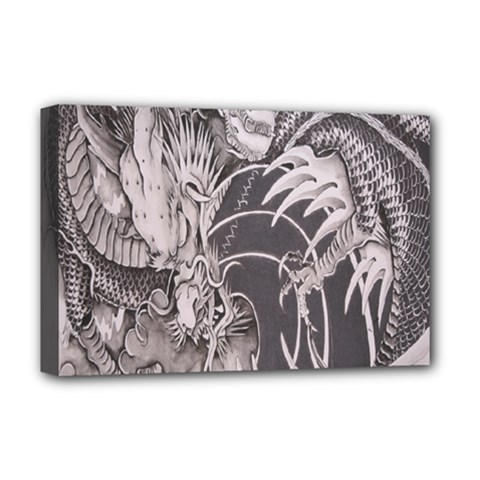 Chinese Dragon Tattoo Deluxe Canvas 18  X 12