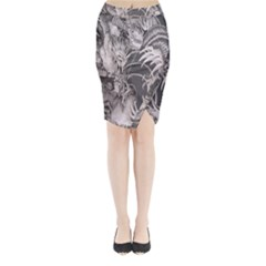 Chinese Dragon Tattoo Midi Wrap Pencil Skirt