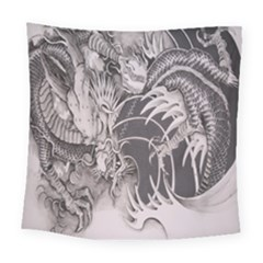 Chinese Dragon Tattoo Square Tapestry (large)