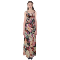 Japanese Ethnic Pattern Empire Waist Maxi Dress