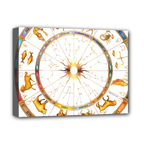 Zodiac  Institute Of Vedic Astrology Deluxe Canvas 16  X 12