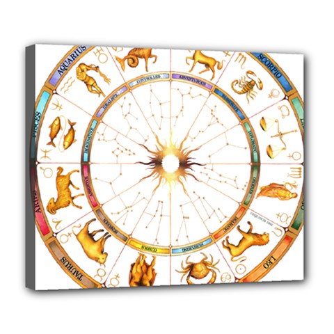 Zodiac  Institute Of Vedic Astrology Deluxe Canvas 24  X 20