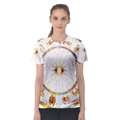 Zodiac  Institute Of Vedic Astrology Women s Sport Mesh Tee