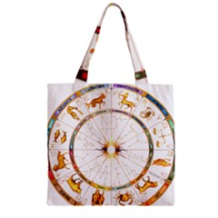 Zodiac  Institute Of Vedic Astrology Zipper Grocery Tote Bag