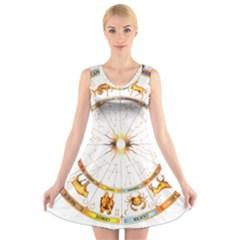 Zodiac  Institute Of Vedic Astrology V Neck Sleeveless Skater Dress