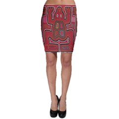 Frog Pattern Bodycon Skirt