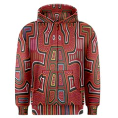 Frog Pattern Men s Zipper Hoodie