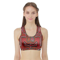 Frog Pattern Sports Bra With Border